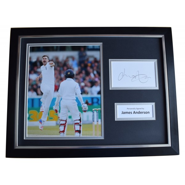 James Anderson Signed Framed Photo Autograph 16x12 display Cricket AFTAL & COA Perfect Gift Memorabilia