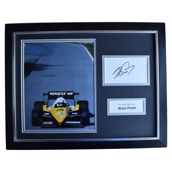 Alain Prost Signed Framed Photo Autograph 16x12 display Formula 1 Racing COA Perfect Gift Memorabilia