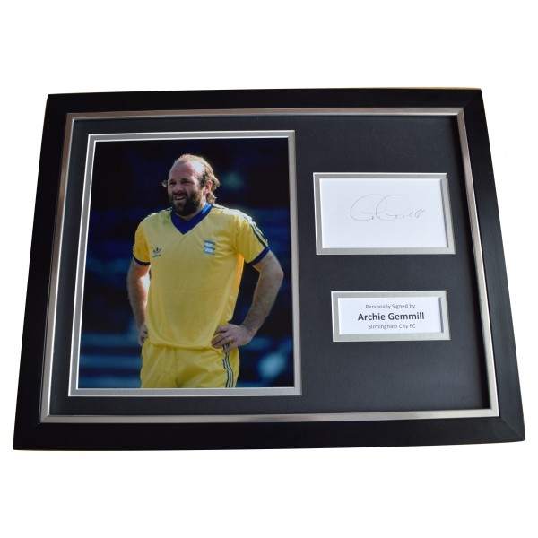 Archie Gemmill Signed Framed Photo Autograph 16x12 display Birmingham City COA Perfect Gift Memorabilia