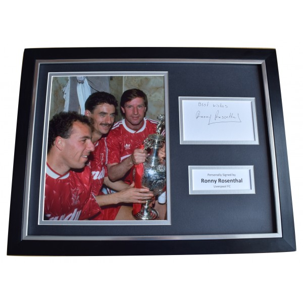 Ronny Rosenthal Signed Framed Photo Autograph 16x12 display Liverpool COA Perfect Gift Memorabilia