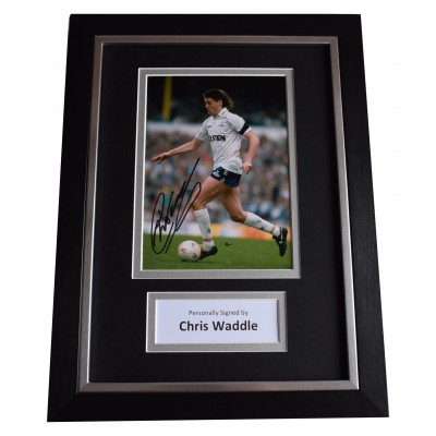 Chris Waddle Signed A4 Framed Autograph Photo Display Tottenham Hotspurs COA Perfect Gift Memorabilia
