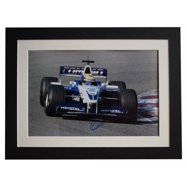 Ralf Schumacher Signed autograph 16x12 photo display Formula 1 AFTAL COA Perfect Gift Memorabilia