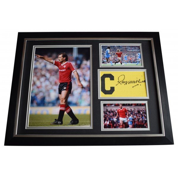 Ray Wilson Signed Framed Captains Armband Autograph 16x12 display Manchester Utd Perfect Gift Memorabilia