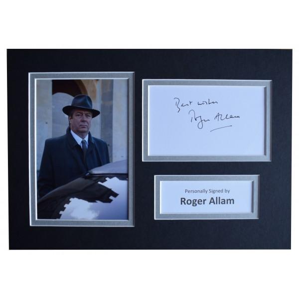 Roger Allam Signed Autograph A4 photo mount display TV Endeavour AFTAL COA  Perfect Gift Memorabilia