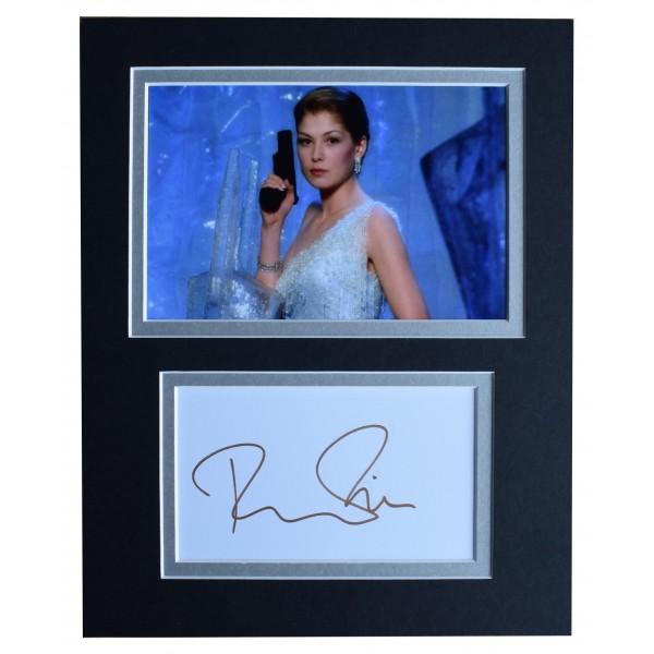 Rosamund Pike Signed Autograph 10x8 photo display James Bond Film AFTAL COA Perfect Gift Memorabilia
