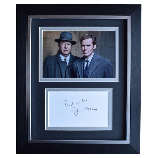 Roger Allam Signed 10x8 Framed Autograph Photo Display Endeavour TV AFTAL COA Perfect Gift Memorabilia