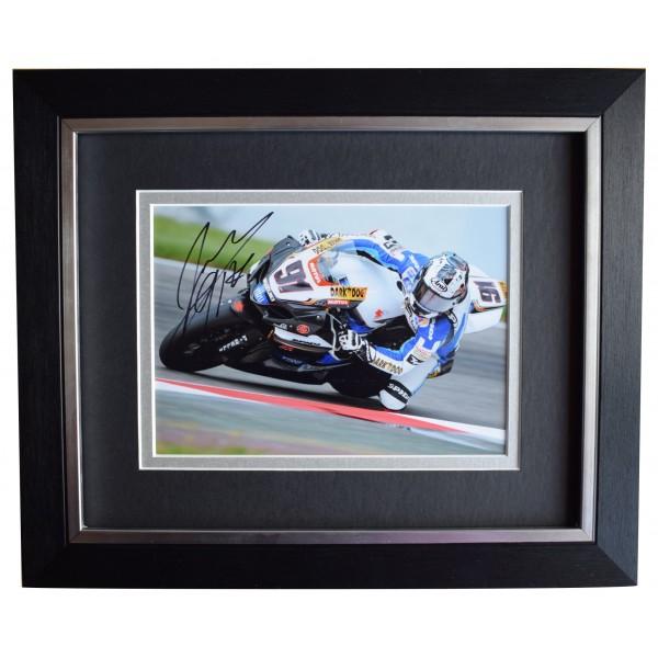 Leon Haslam Signed 10x8 Framed Autograph Photo Display Superbikes AFTAL COA Perfect Gift Memorabilia