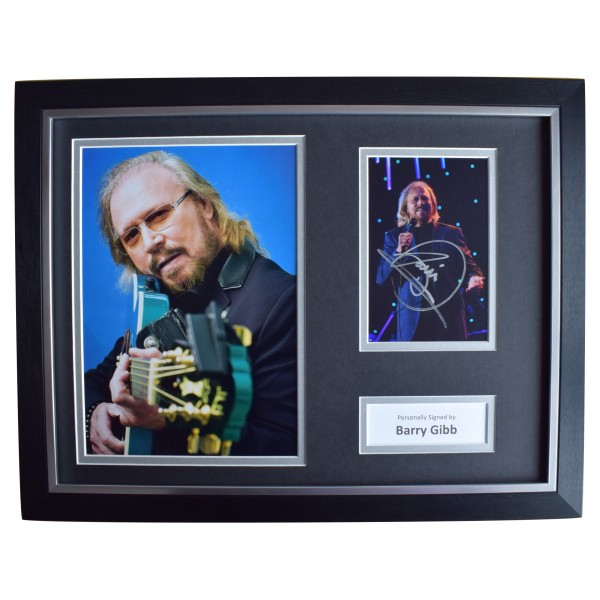 Barry Gibb Signed Autograph 16x12 framed photo display BeeGees Music AFTAL & COA  Perfect Gift Memorabilia
