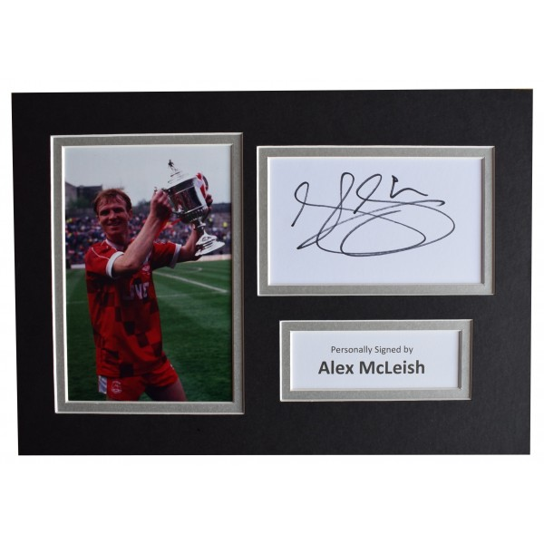 Alex McLeish Signed Autograph A4 photo display Aberdeen Football AFTAL & COA Perfect Gift Memorabilia