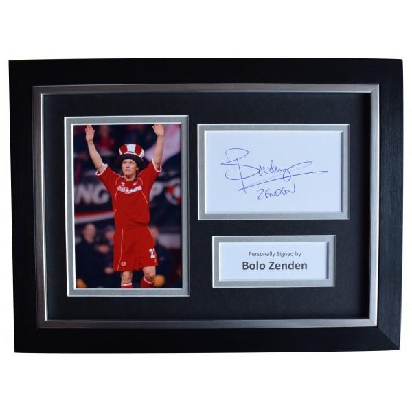 Bolo Zenden Signed A4 Framed Autograph Photo Middlesbrough Football AFTAL COA Perfect Gift Memorabilia