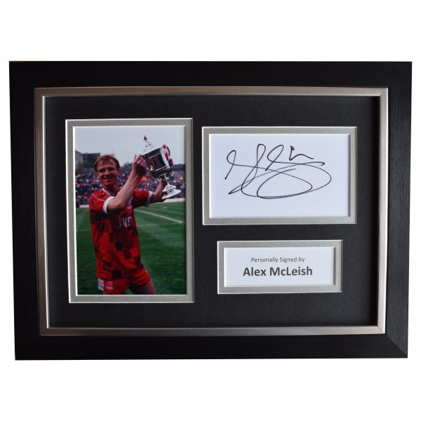 Alex McLeish Signed A4 Framed Autograph Photo Mount Aberdeen Football AFTAL COA Perfect Gift Memorabilia