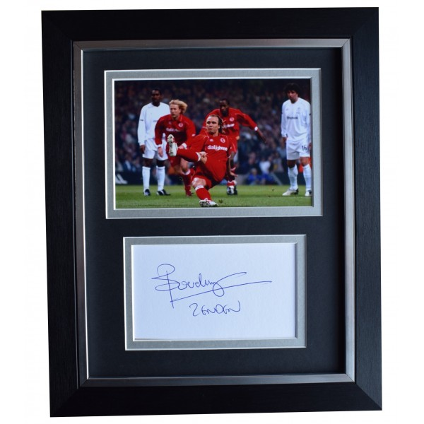 Bolo Zenden Signed 10x8 Framed Autograph Photo Display Middlesbrough AFTAL COA  Perfect Gift Memorabilia