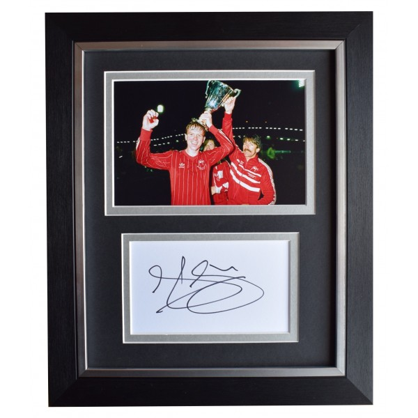Alex McLeish Signed 10x8 Framed Autograph Photo Display Aberdeen Football COA Perfect Gift Memorabilia