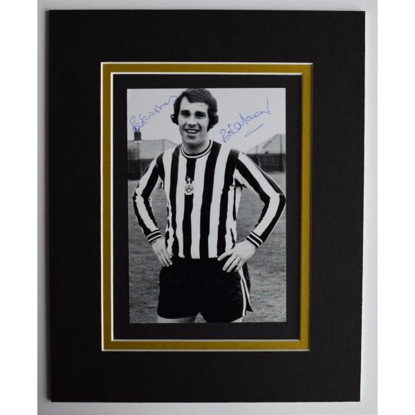 Bob Moncur Signed Autograph 10x8 photo display Newcastle United Football COA Perfect Gift Memorabilia