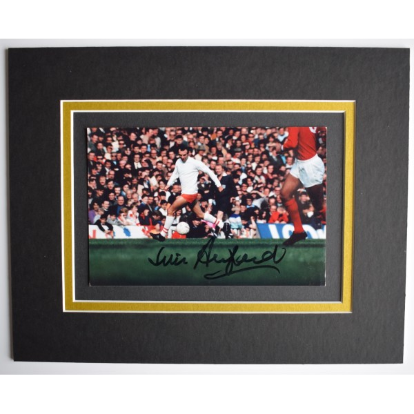Jimmy Armfield Signed Autograph 10x8 photo display Blackpool Football AFTAL COA Perfect Gift Memorabilia