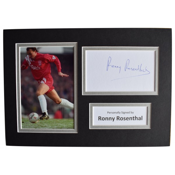 Ronny Rosenthal Signed Autograph A4 photo display Liverpool Football AFTAL COA Perfect Gift Memorabilia