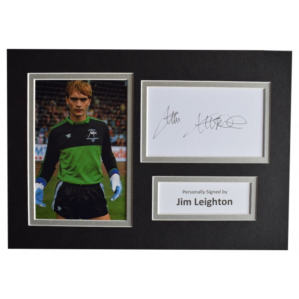 Jim Leighton Signed Autograph A4 photo display Aberdeen Football AFTAL COA Perfect Gift Memorabilia
