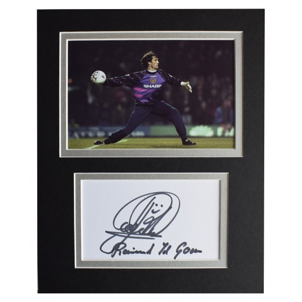 Raimond van der Gouw Signed Autograph 10x8 photo display Manchester United COA Perfect Gift Memorabilia