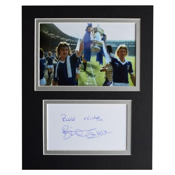 Brian Talbot Signed Autograph 10x8 photo display Ipswich Town Football AFTAL COA Perfect Gift Memorabilia