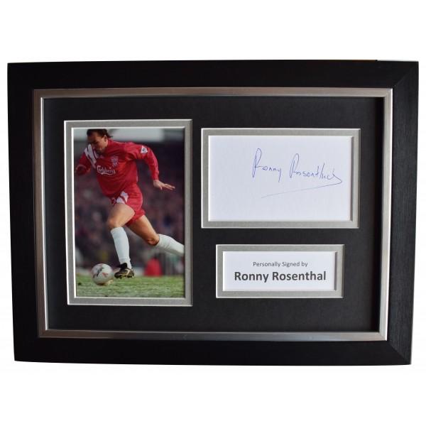 Ronny Rosenthal Signed A4 Framed Autograph Photo Liverpool Football AFTAL COA Perfect Gift Memorabilia