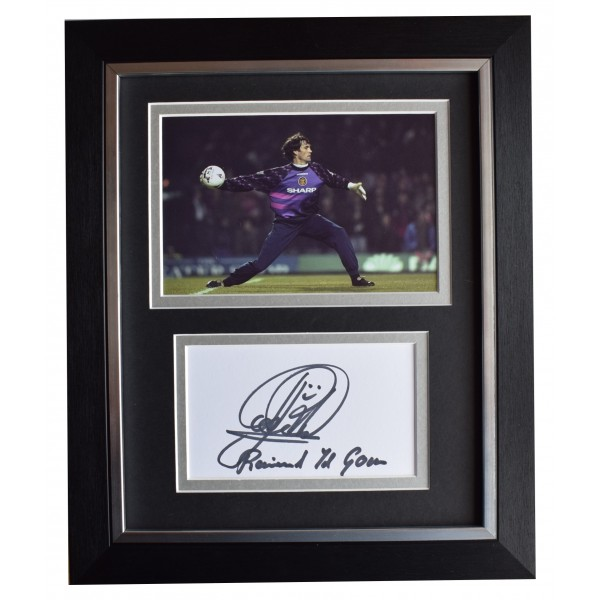 Raimond Van der Gouw Signed 10x8 Framed Autograph Photo Display Man Utd COA Perfect Gift Memorabilia