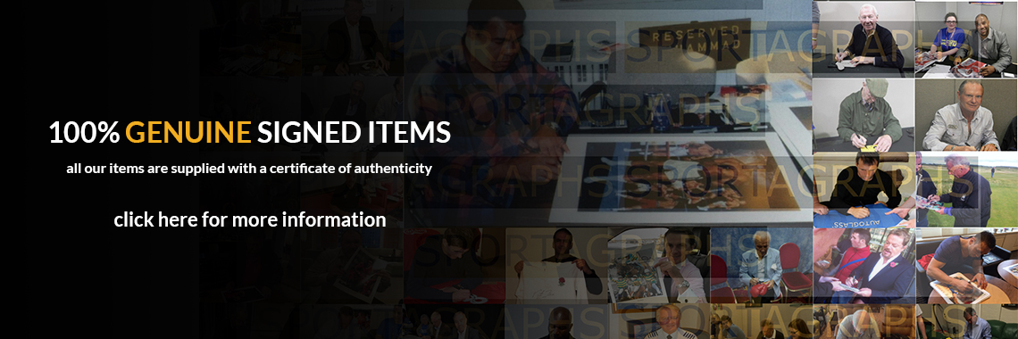 100% genuine signed items