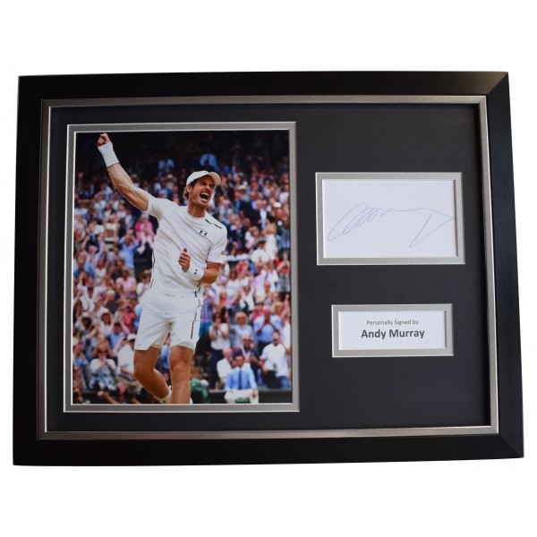 9d745066bfc50 Andy Murray Signed Framed Autograph 16x12 photo display Tennis Sport COA  Perfect Gift Memorabilia