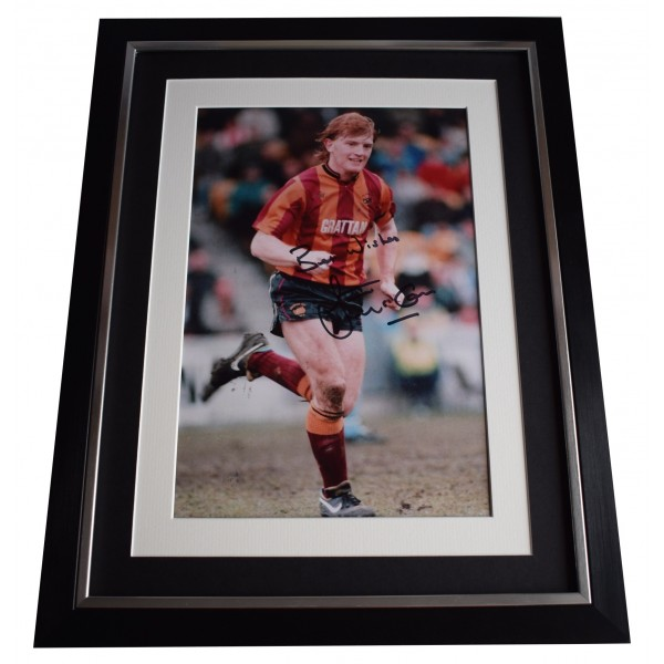 Stuart McCall Signed Framed Autograph 16x12 photo display Bradford Football COA Perfect Gift Memorabilia