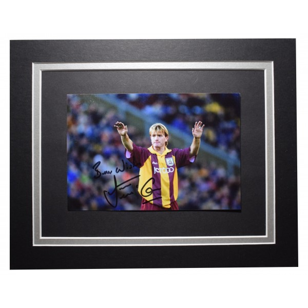 Stuart McCall Signed Autograph 10x8 photo display Bradford Football COA Perfect Gift Memorabilia