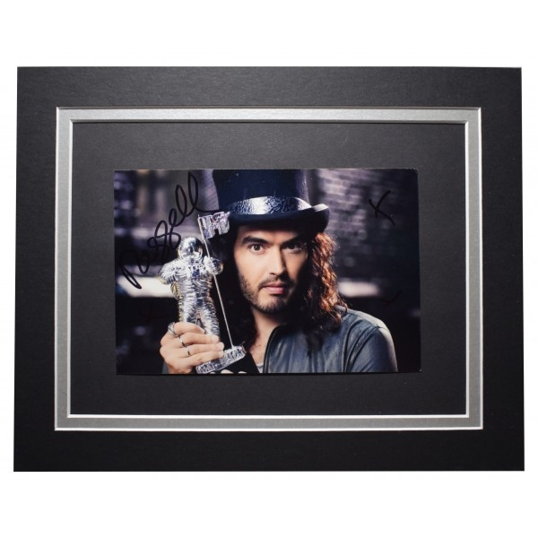 Russell Brand Signed Autograph 10x8 photo display Comedy TV AFTAL COA Perfect Gift Memorabilia