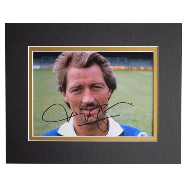 Frank Worthington Signed Autograph 10x8 photo display Leicester City AFTAL COA Perfect Gift Memorabilia