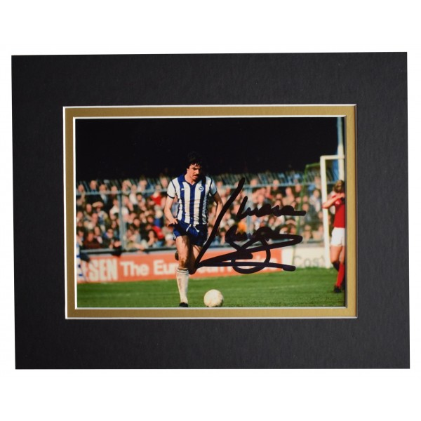 Mark Lawrenson Signed Autograph 10x8 photo display Brighton Football AFTAL COA  Perfect Gift Memorabilia