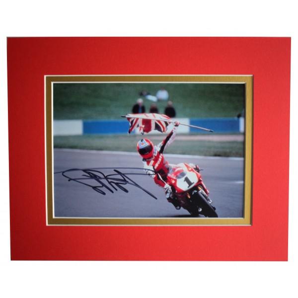 Carl Fogarty Signed Autograph 10x8 photo display Superbikes Sport AFTAL COA Perfect Gift Memorabilia