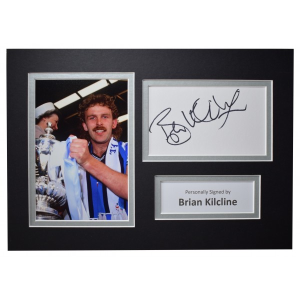 Brian Kilcline Signed Autograph A4 photo display Coventry City AFTAL COA Perfect Gift Memorabilia