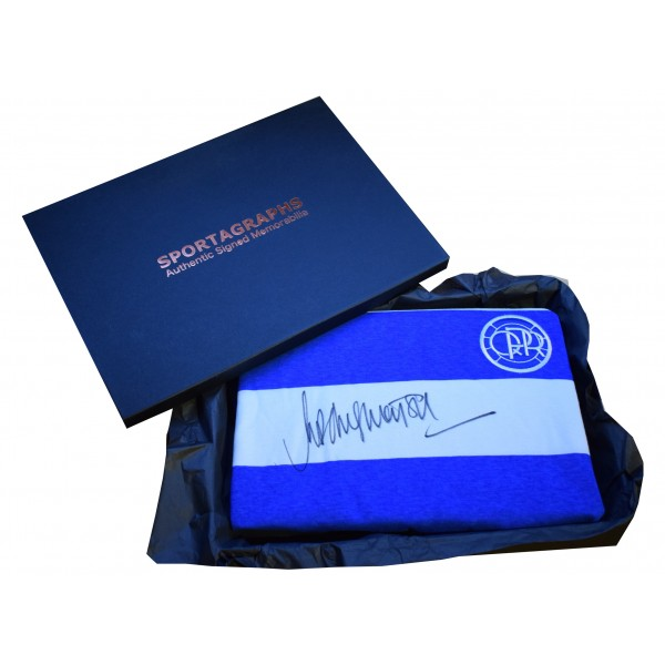 Rodney Marsh Signed Shirt Autograph Queens Park Rangers New Gift Box AFTAL & COA Perfect Gift Memorabilia