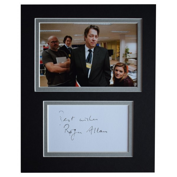 Roger Allam Signed Autograph 10x8 photo mount display The Thick of It TV COA Perfect Gift Memorabilia