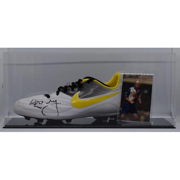 Colin Hendry Signed Autograph Football Boot Display Case Blackburn AFTAL COA Perfect Gift Memorabilia