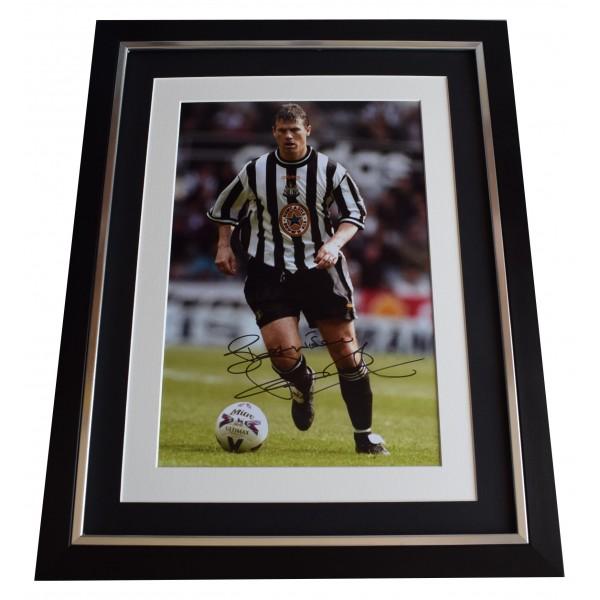 Rob Lee Signed Framed Photo Autograph 16x12 display Newcastle Football COA Perfect Gift Memorabilia