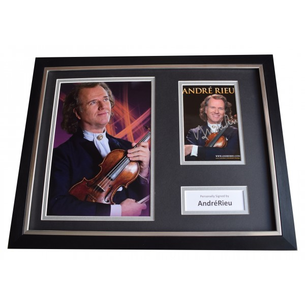 Andre Rieu Signed Framed Photo Autograph 16x12 display Violin Music COA Perfect Gift Memorabilia