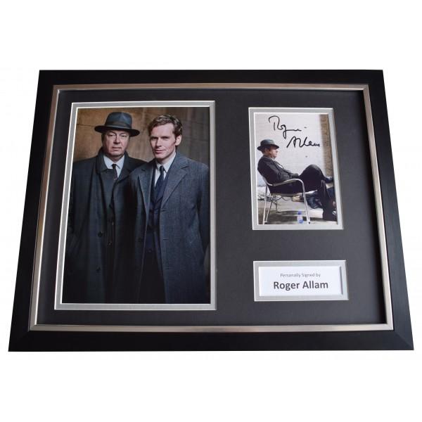 Roger Allam Signed Framed Photo Autograph 16x12 display Endeavour TV AFTAL COA  Perfect Gift Memorabilia