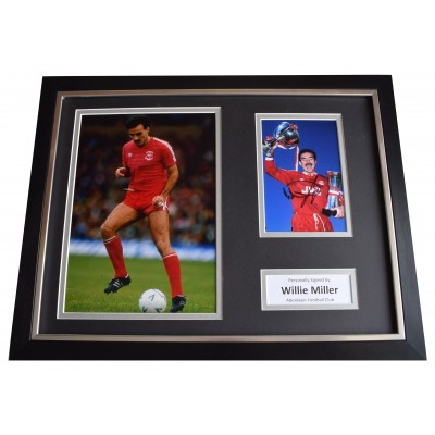 Willie Miller Signed Framed Photo Autograph 16x12 display Aberdeen Football COA Perfect Gift Memorabilia