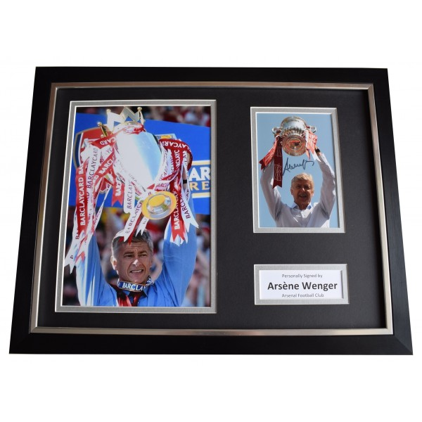 Arsene Wenger Signed Framed Photo Autograph 16x12 display Arsenal Football COA Perfect Gift Memorabilia