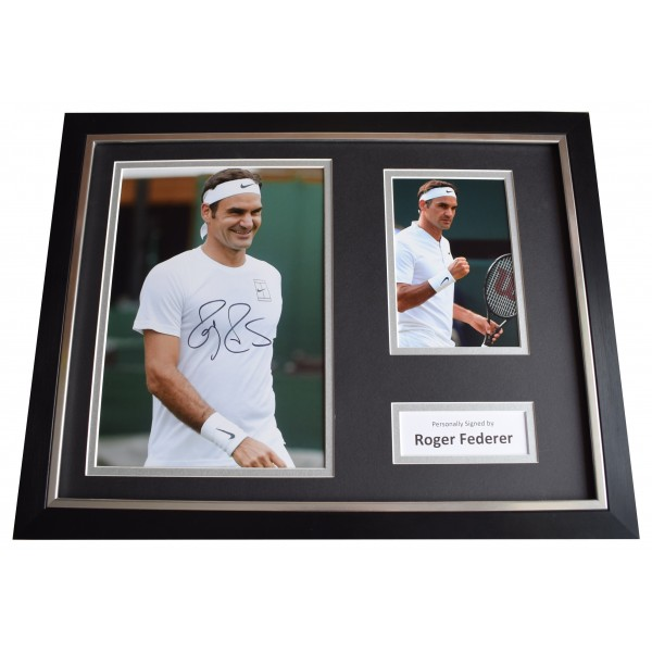 Roger Federer Signed Framed Photo Autograph 16x12 display Tennis Sport COA Perfect Gift Memorabilia