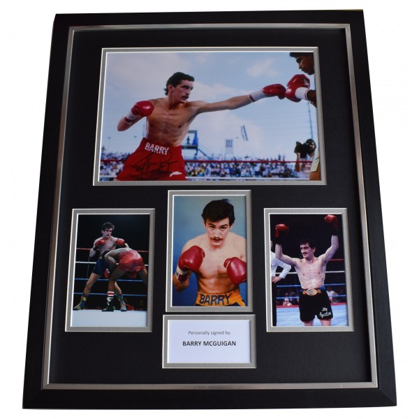 Barry McGuigan SIGNED Framed Photo Autograph Huge display Boxing Sport COA Perfect Gift Memorabilia