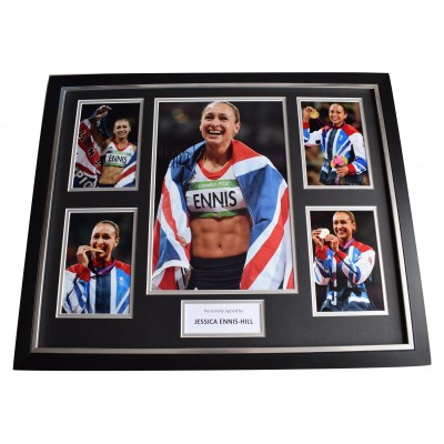 Jessica Ennis-Hill SIGNED Framed Photo Autograph Huge display Olympic Athletics Perfect Gift Memorabilia