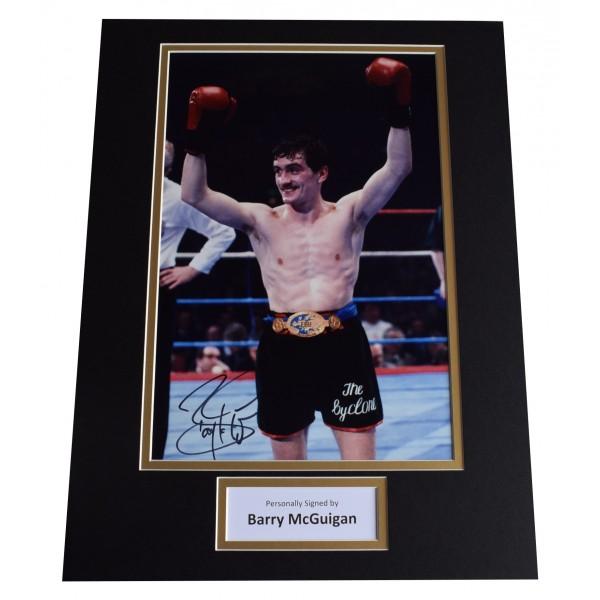 Barry McGuigan Signed autograph 16x12 photo display Boxing Sport AFTAL COA Perfect Gift Memorabilia