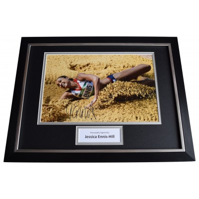 Jessica Ennis-Hill Signed Framed Photo Autograph 16x12 display Athletics COA  Perfect Gift Memorabilia