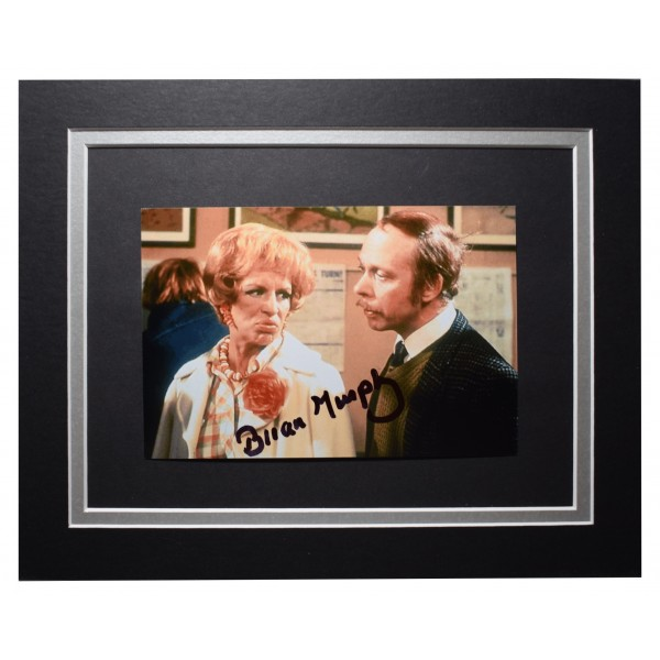 Brian Murphy Signed Autograph 10x8 photo display George and Mildred AFTAL COA Perfect Gift Memorabilia