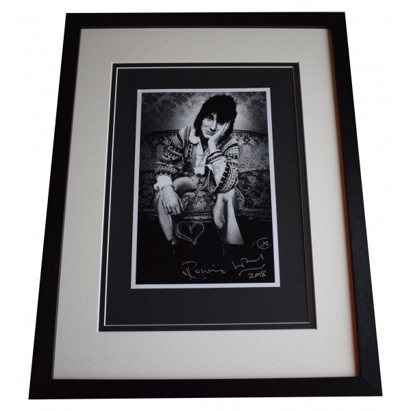 Ronnie Wood Signed Framed Autograph 16x12 photo display Rolling Stones Music COA  Perfect Gift Memorabilia