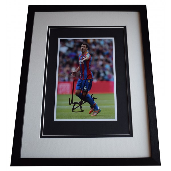 Luka Milivojevic Signed Framed Autograph 16x12 photo display Crystal Palace COA  Perfect Gift Memorabilia